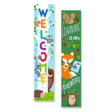 Woodland Friends Double-Sided Banner