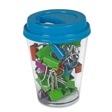 Binder Clips with Storage Cup