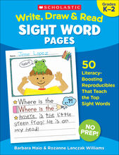 Write. Draw & Read Sight Word Pages