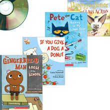 SeeSaw September Book and CD Library: 4 Books and 4 CDs