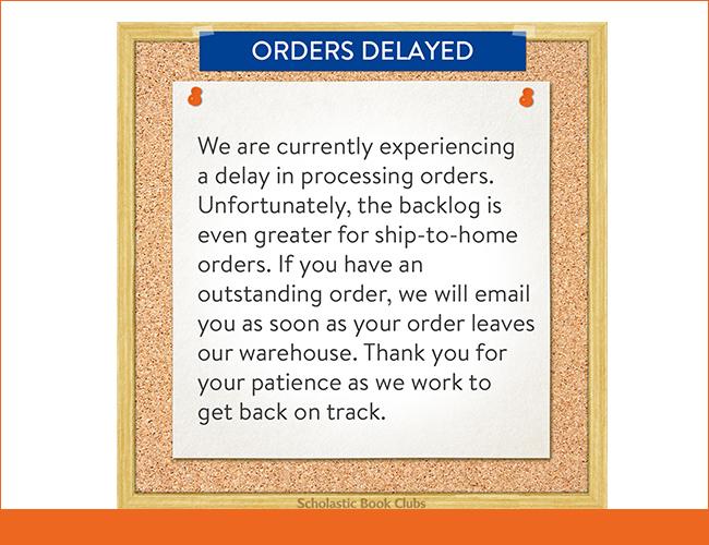 Order delay notice