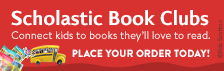 Scholastic Book Club banner with a link to Ms. Thornburg's Book Club site.